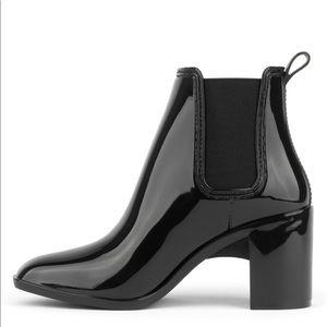 NWOT Jeffrey Campbell Black Hurricane rain boots